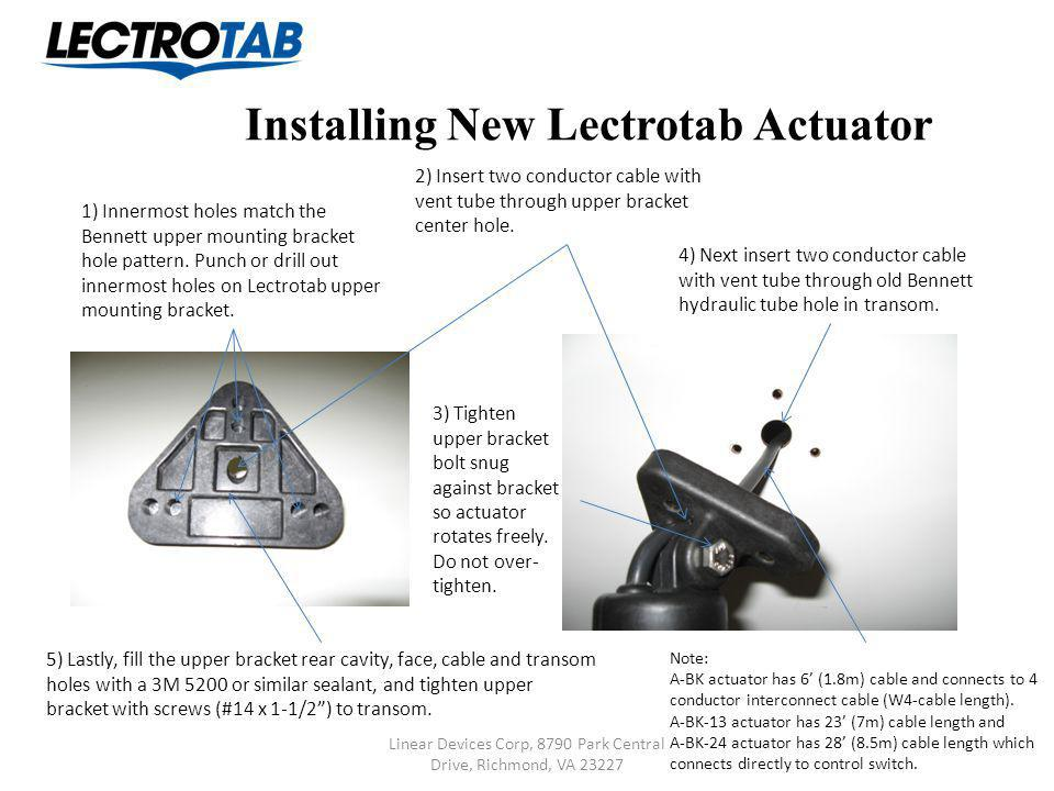 Installing New Lectrotab Actuator