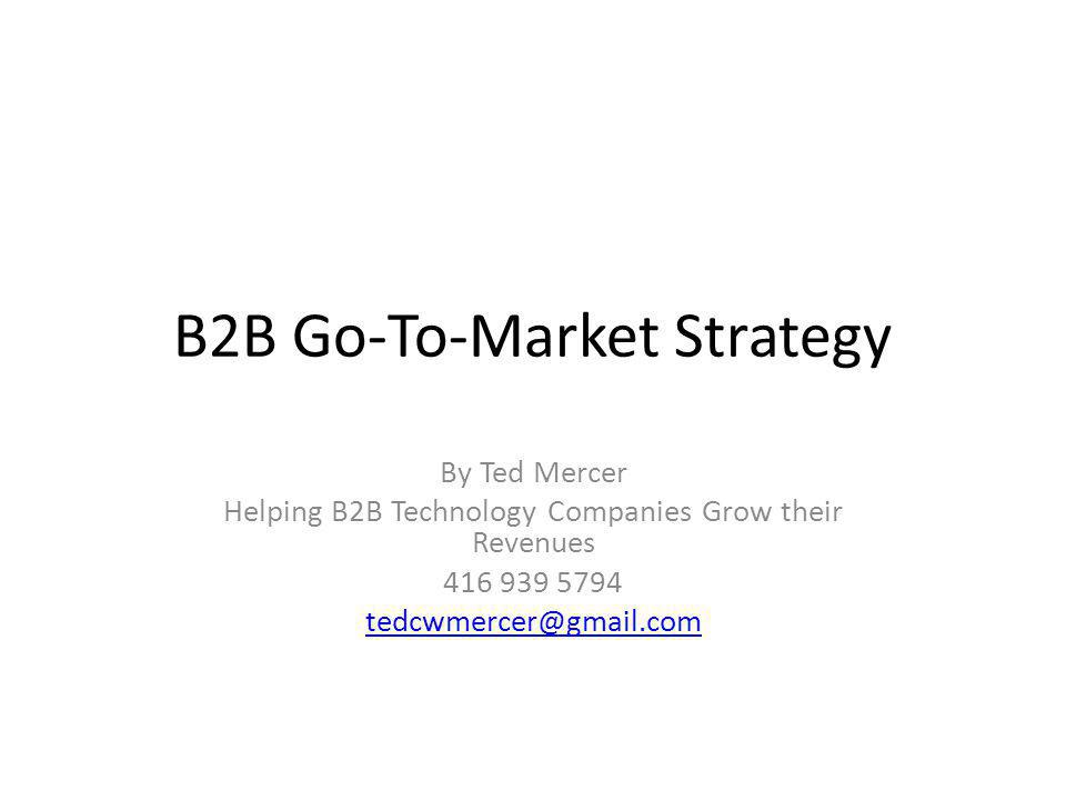 B2B Go-To-Market Strategy