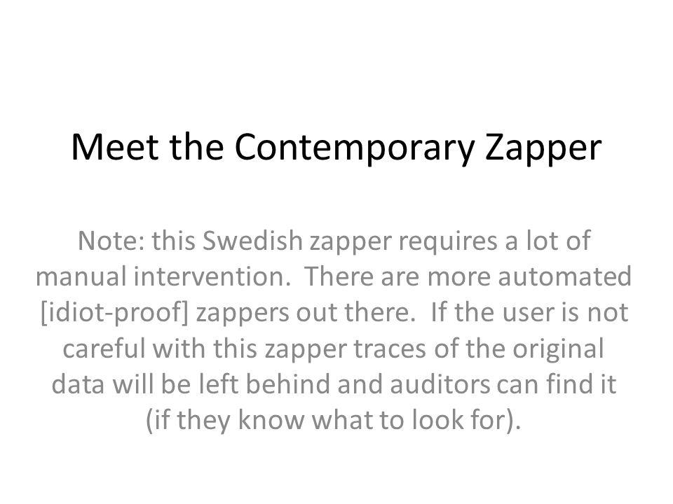 Meet the Contemporary Zapper