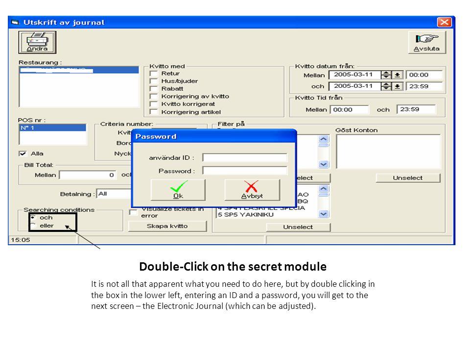 Double-Click on the secret module