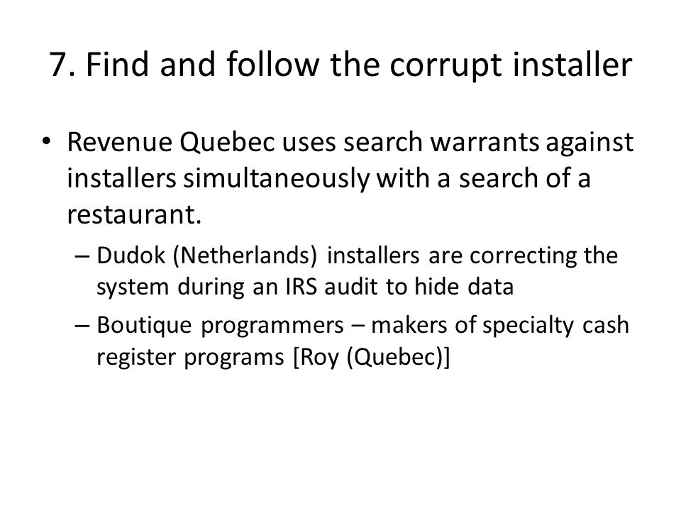 7. Find and follow the corrupt installer