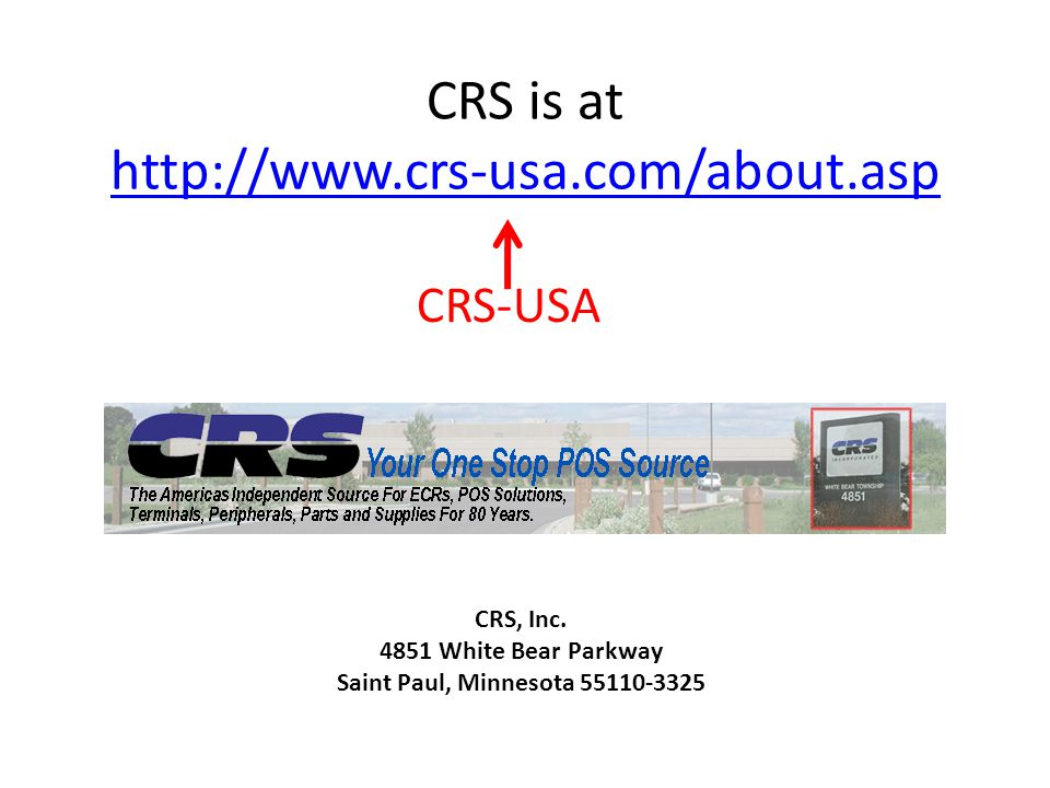 CRS is at http://www.crs-usa.com/about.asp