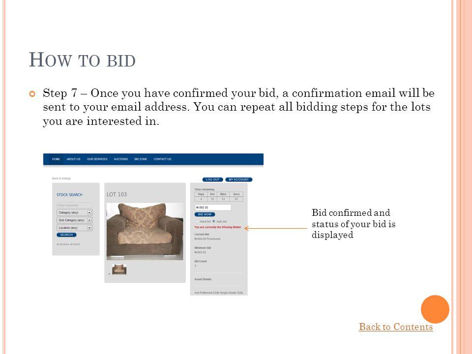 How to bid