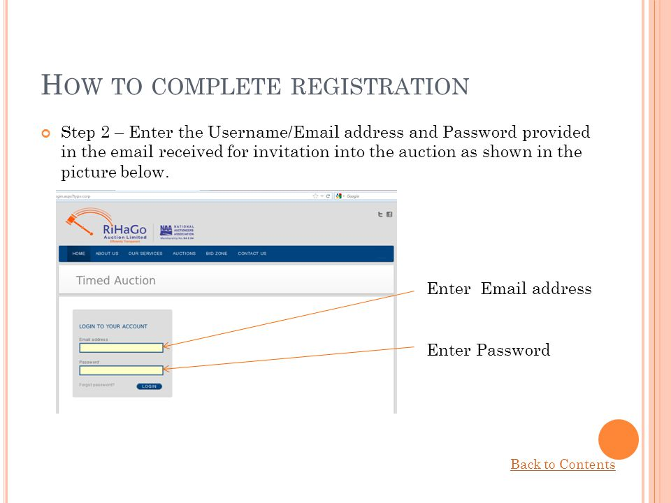 How to complete registration