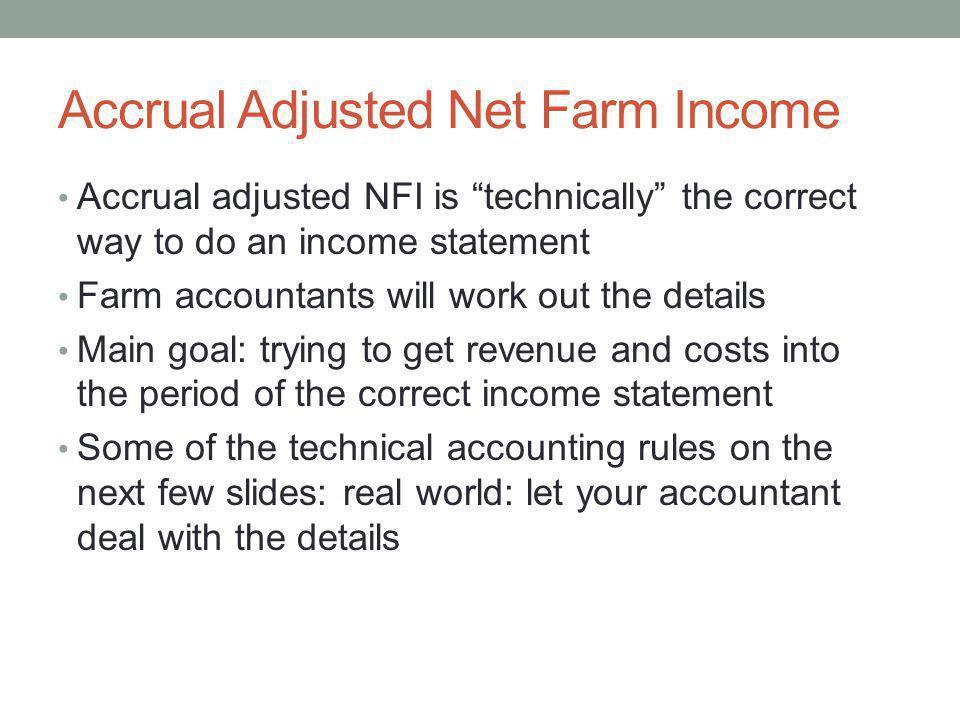 Accrual Adjusted Net Farm Income