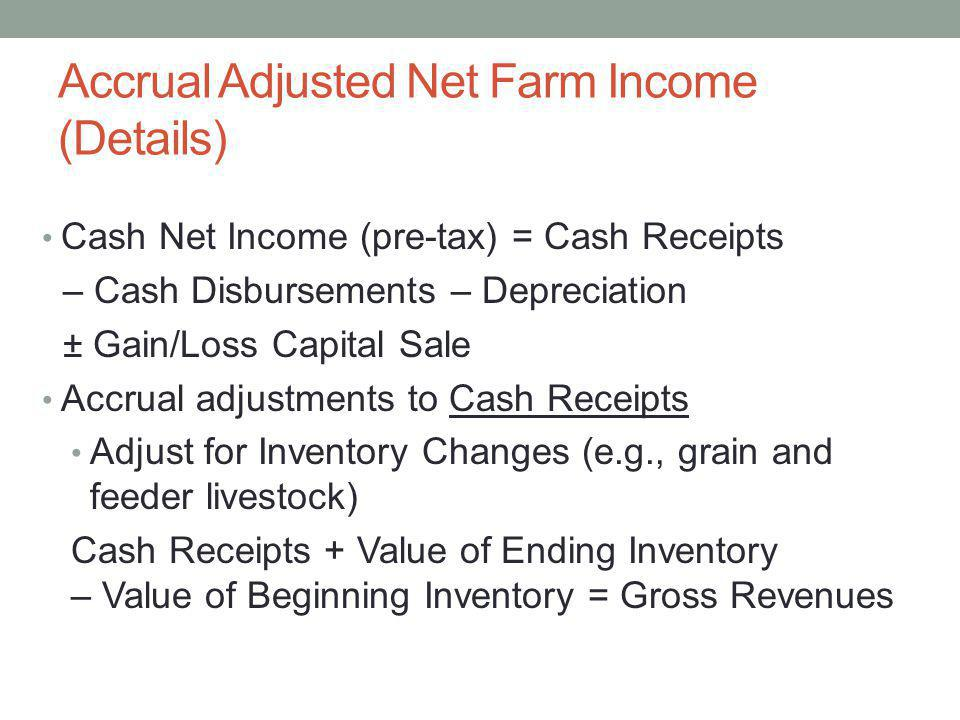 Accrual Adjusted Net Farm Income (Details)
