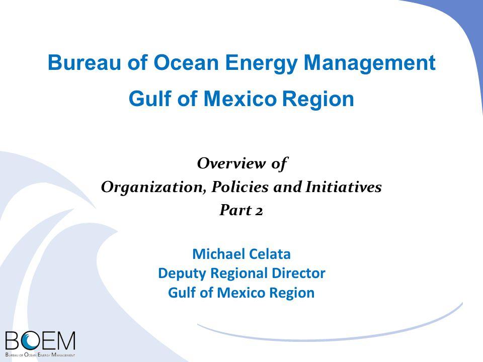 Bureau of Ocean Energy Management Gulf of Mexico Region