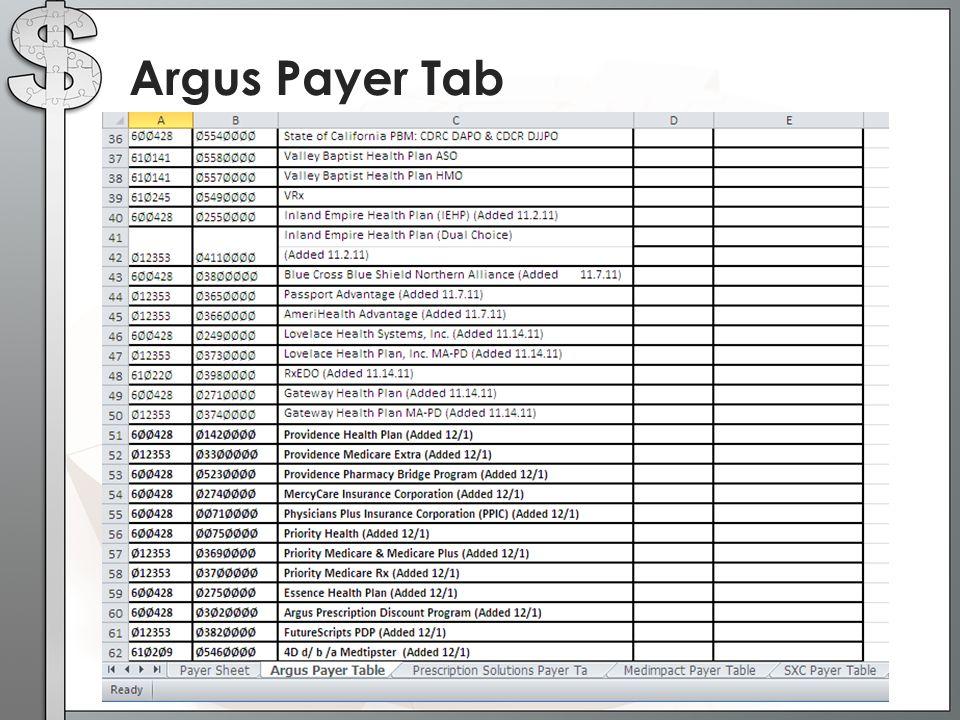 Argus Payer Tab