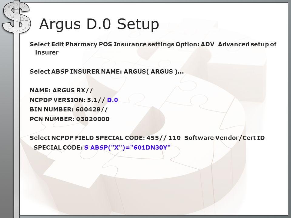 Argus D.0 Setup
