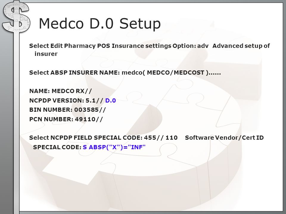 Medco D.0 Setup