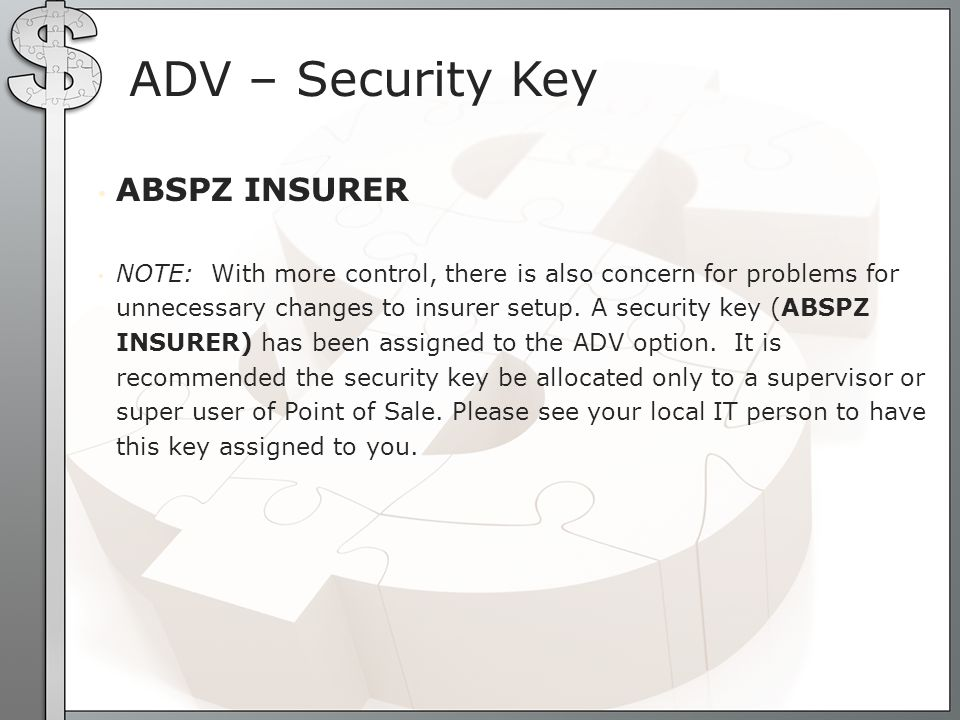 ADV – Security Key ABSPZ INSURER