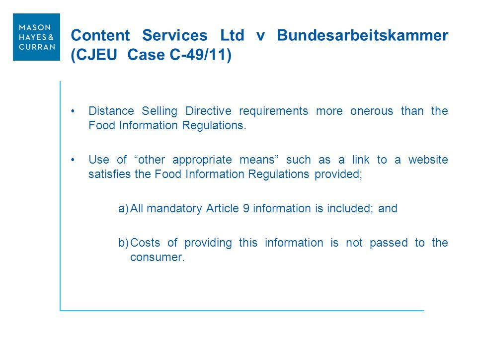 Content Services Ltd v Bundesarbeitskammer (CJEU Case C-49/11)