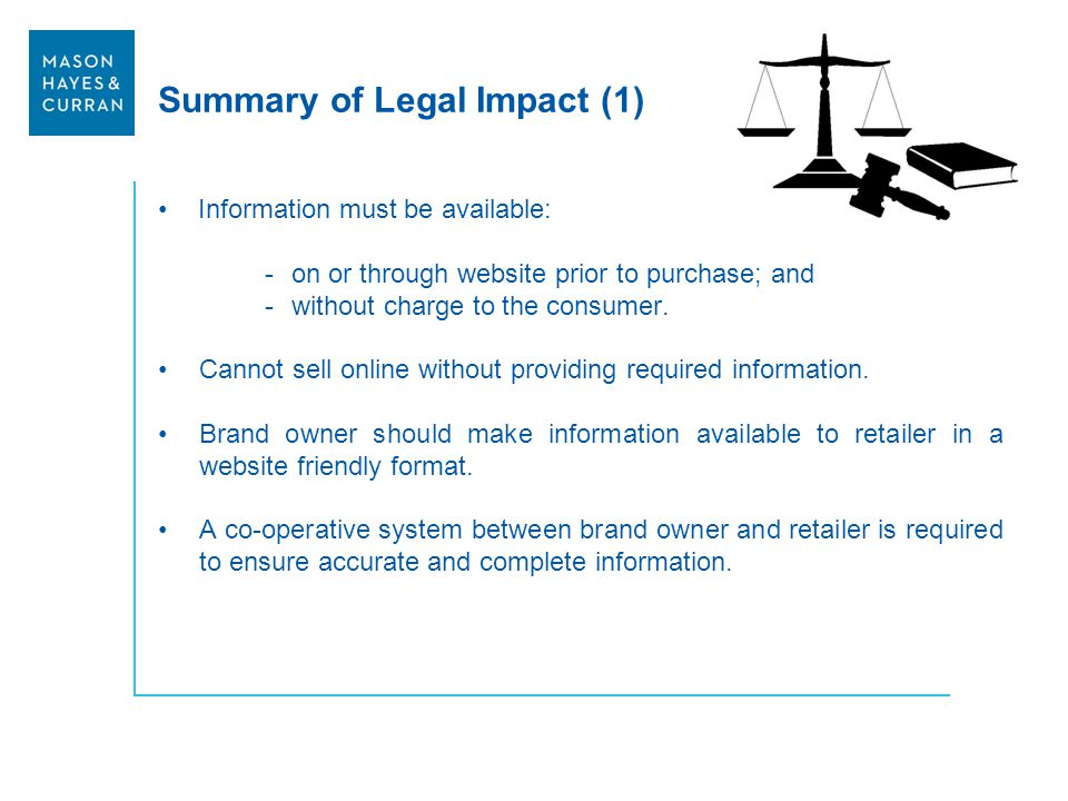 Summary of Legal Impact (1)