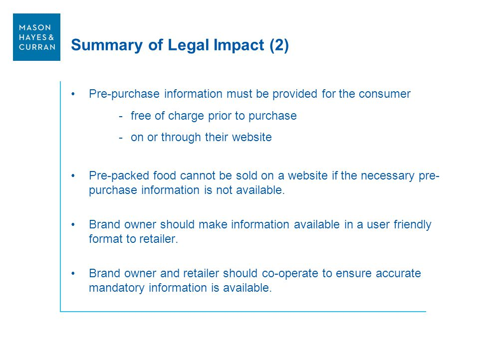 Summary of Legal Impact (2)