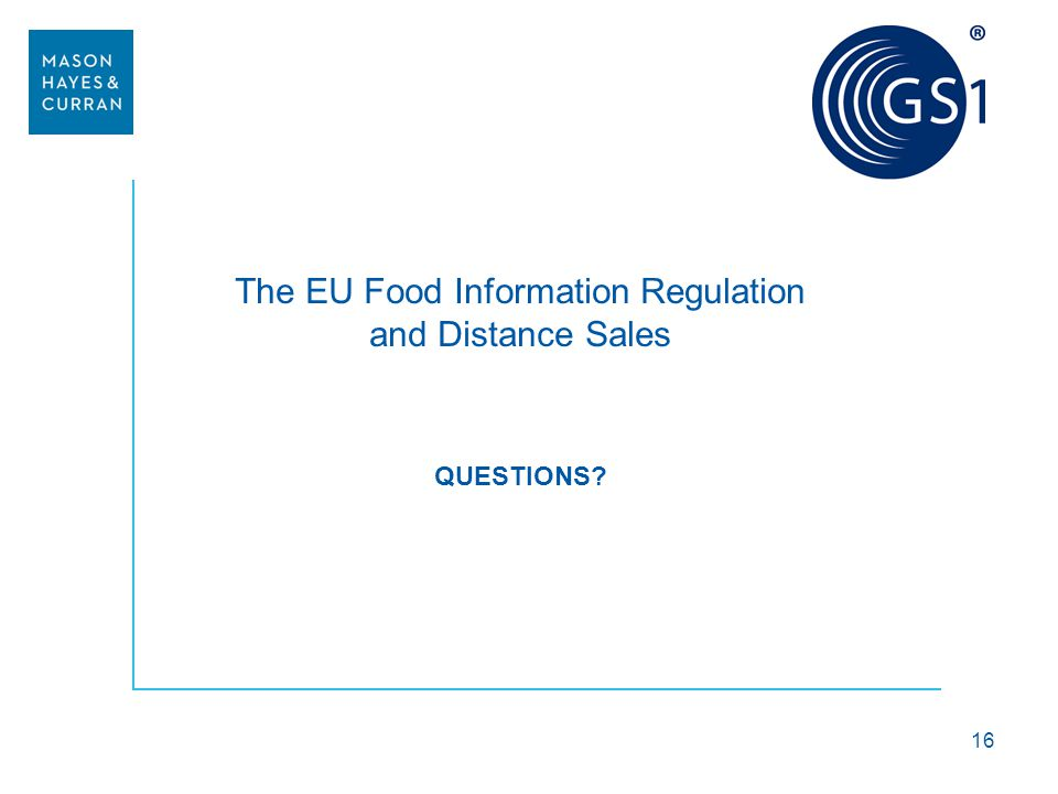 The EU Food Information Regulation