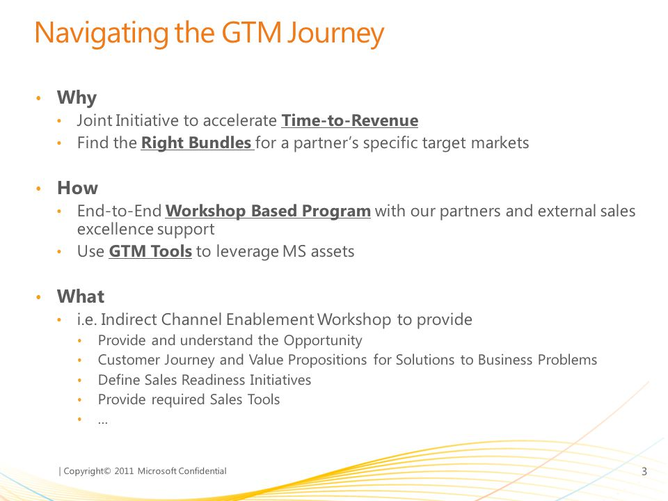 Navigating the GTM Journey