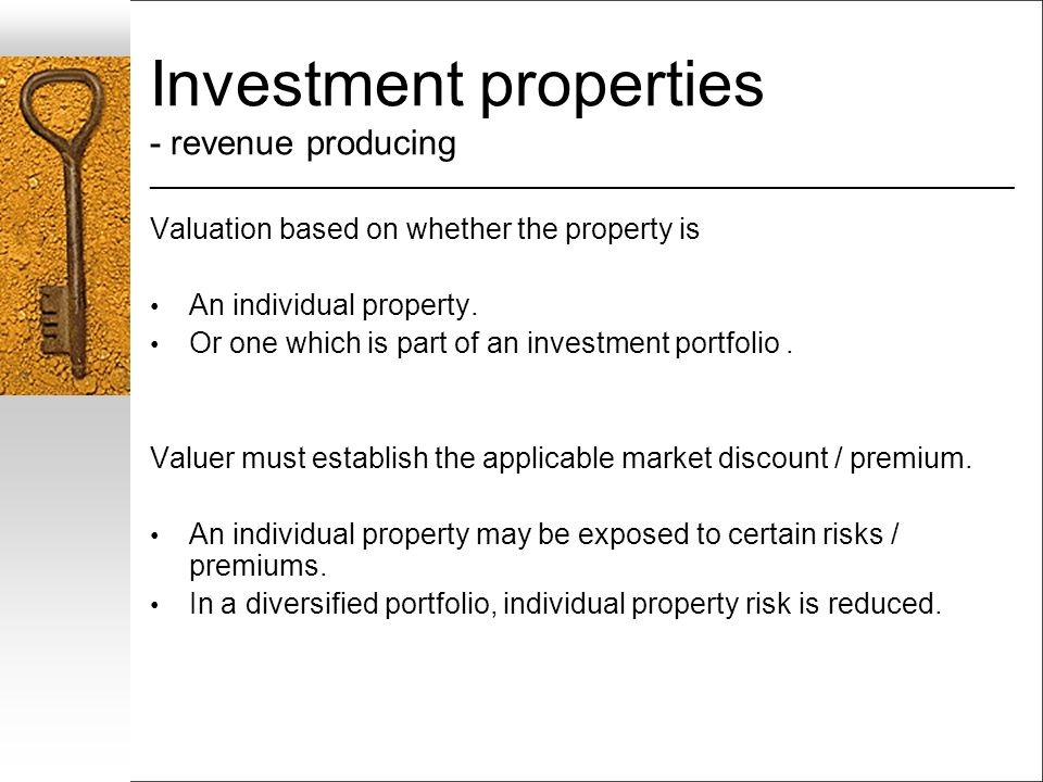 Investment properties - revenue producing ___________________________________________________________________