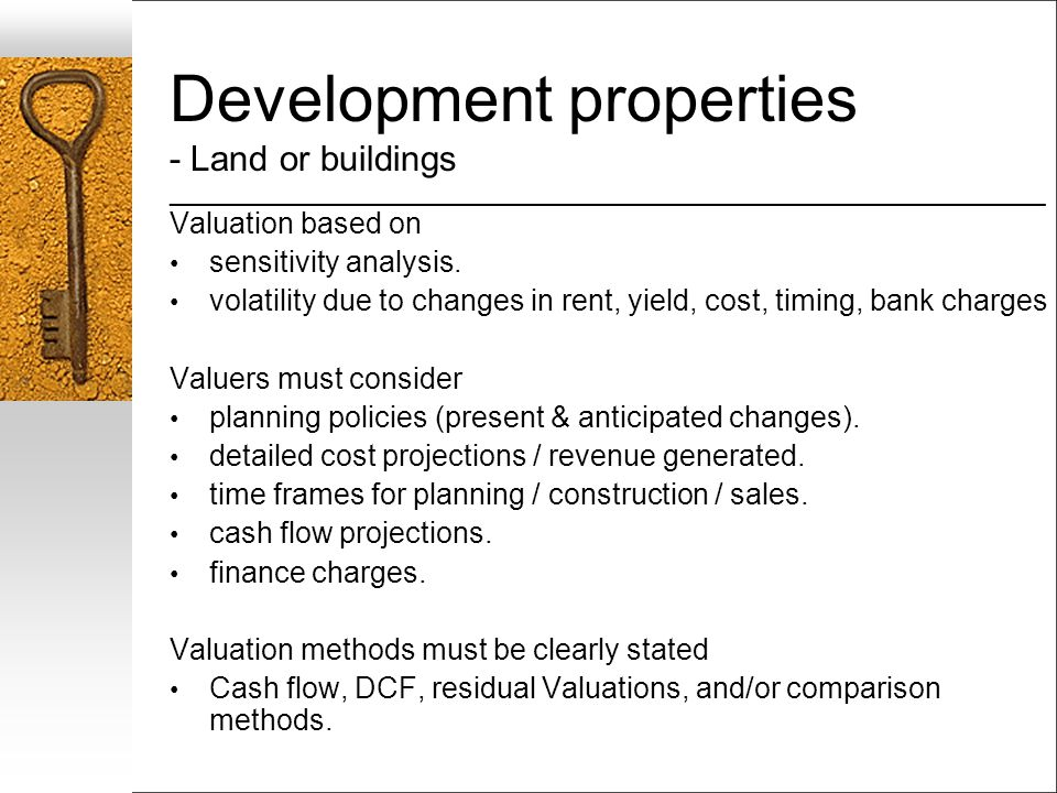 Development properties - Land or buildings ___________________________________________________________________