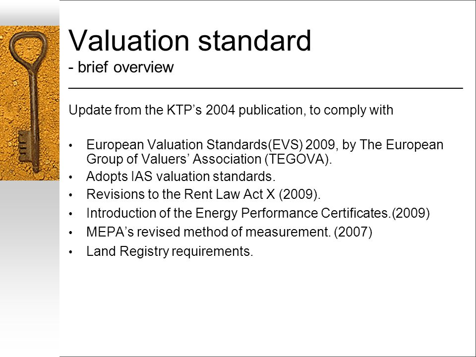 Valuation standard - brief overview ___________________________________________________________________