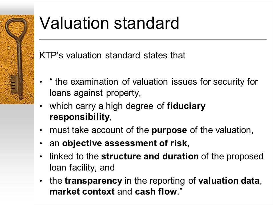Valuation standard ___________________________________________________________________