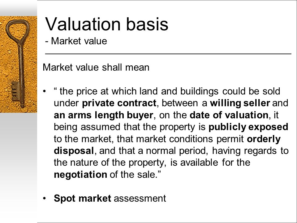 Valuation basis - Market value ___________________________________________________________________