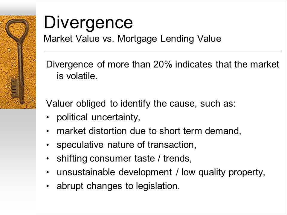 Divergence Market Value vs