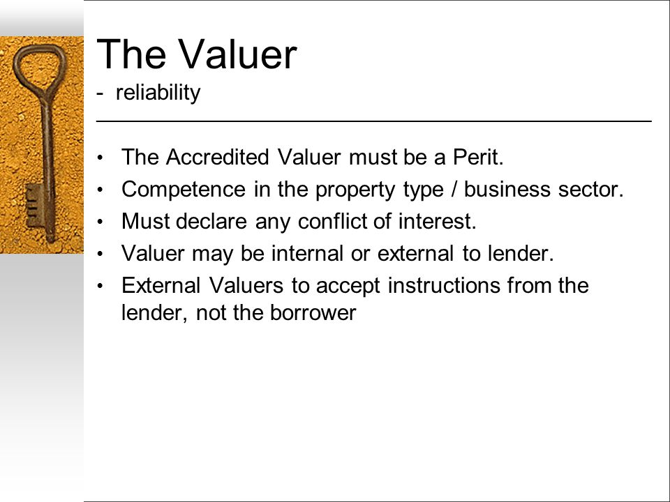 The Valuer - reliability ___________________________________________________________________