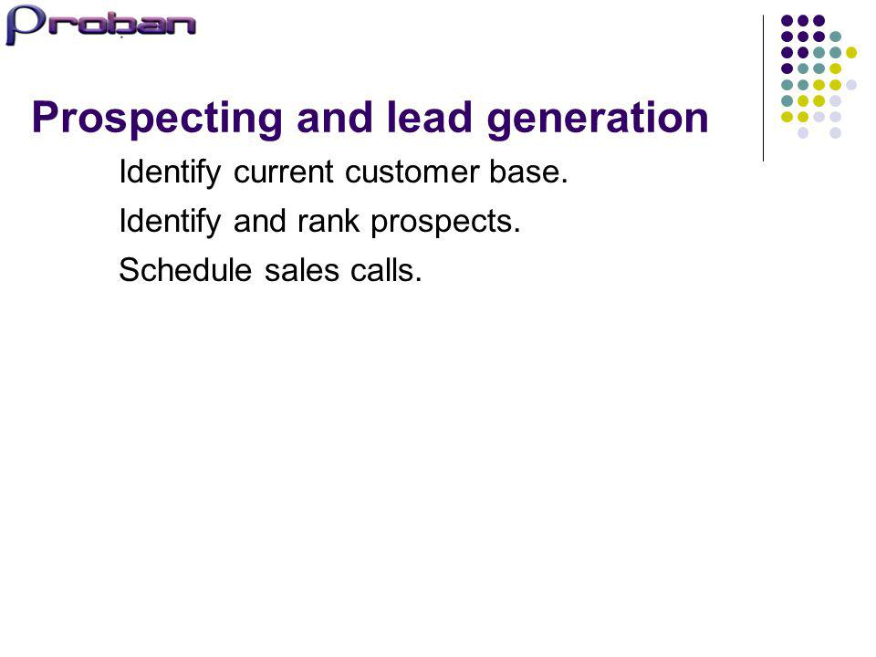 Prospecting and lead generation