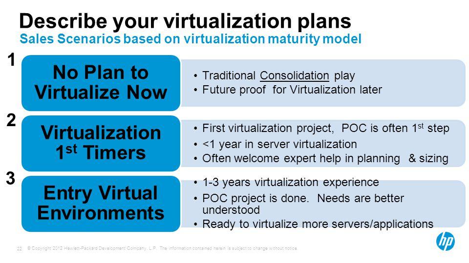Describe your virtualization plans