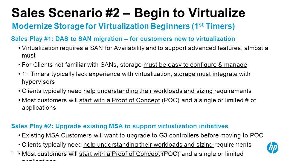 Sales Scenario #2 – Begin to Virtualize