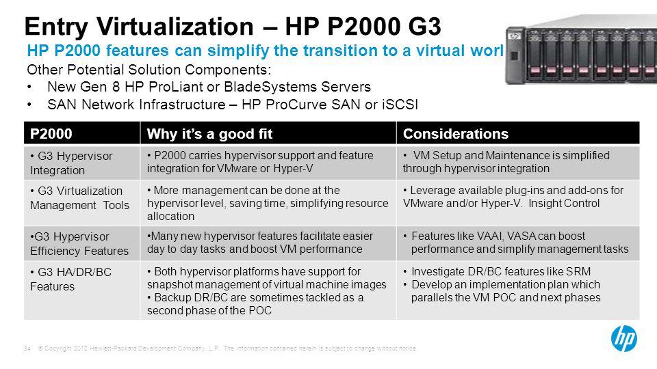 Entry Virtualization – HP P2000 G3