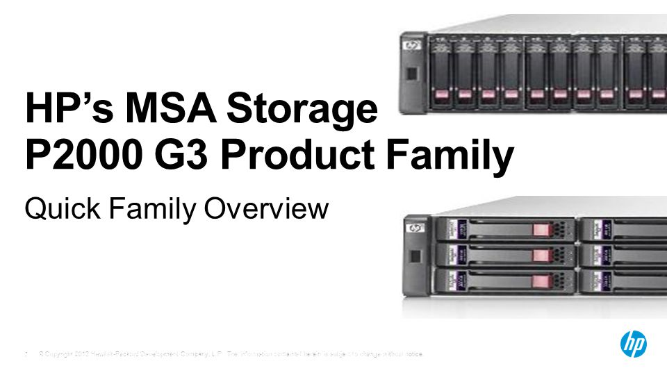 HP's MSA Storage P2000 G3 Product Family