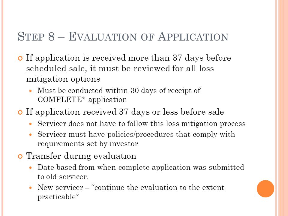 Step 8 – Evaluation of Application