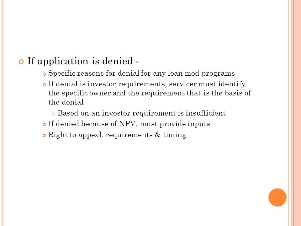 If application is denied -