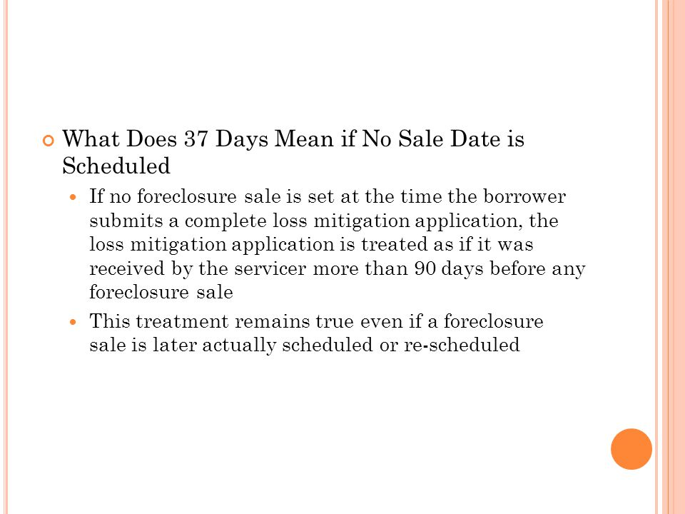 What Does 37 Days Mean if No Sale Date is Scheduled