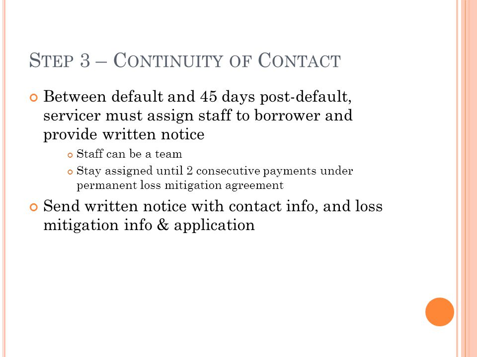 Step 3 – Continuity of Contact