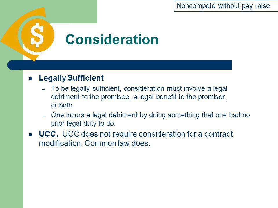 Consideration Legally Sufficient