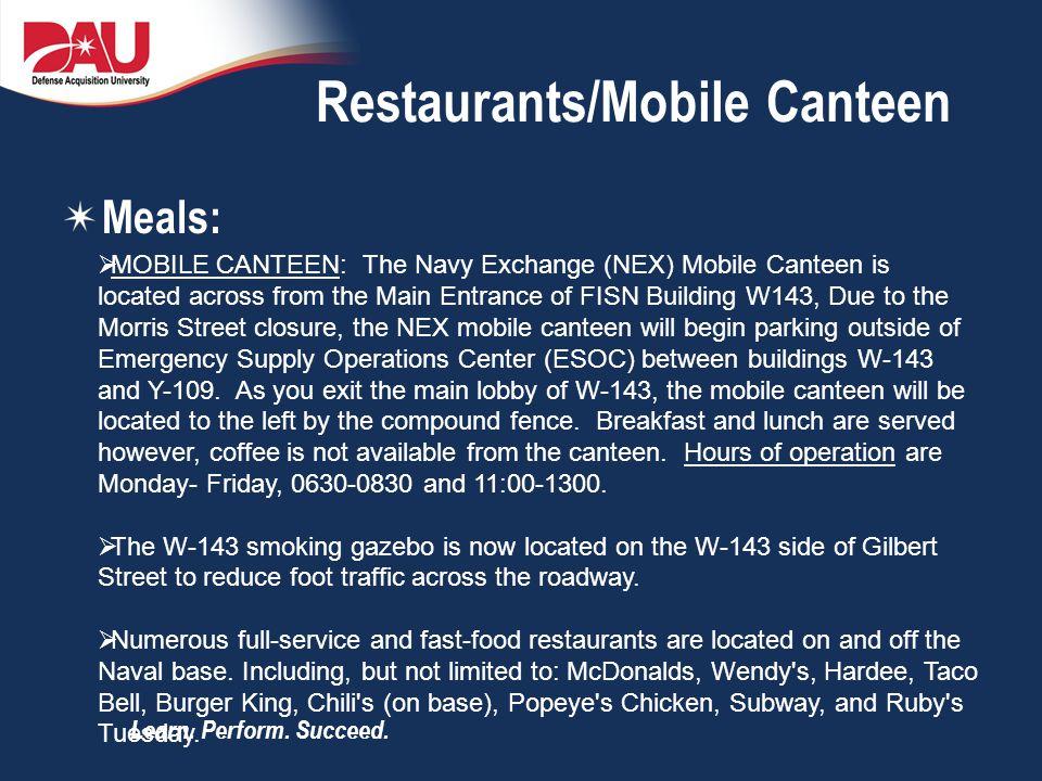 Restaurants/Mobile Canteen