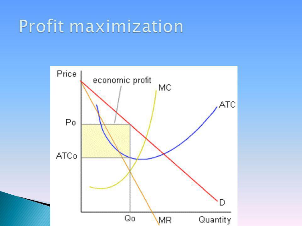 Profit maximization