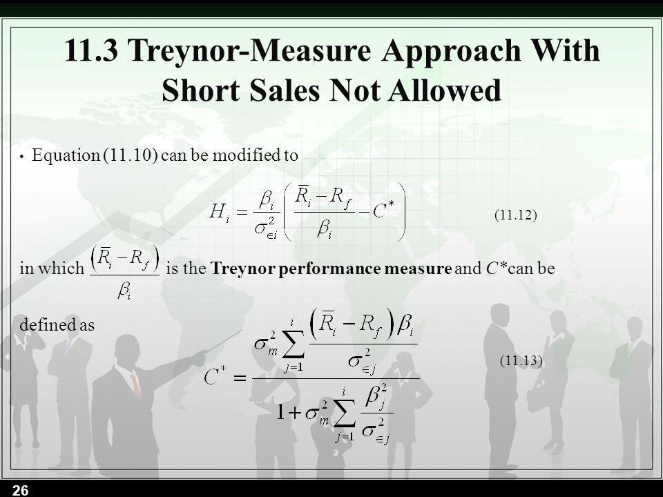 11.3 Treynor-Measure Approach With Short Sales Not Allowed