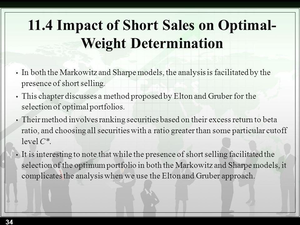 11.4 Impact of Short Sales on Optimal-Weight Determination