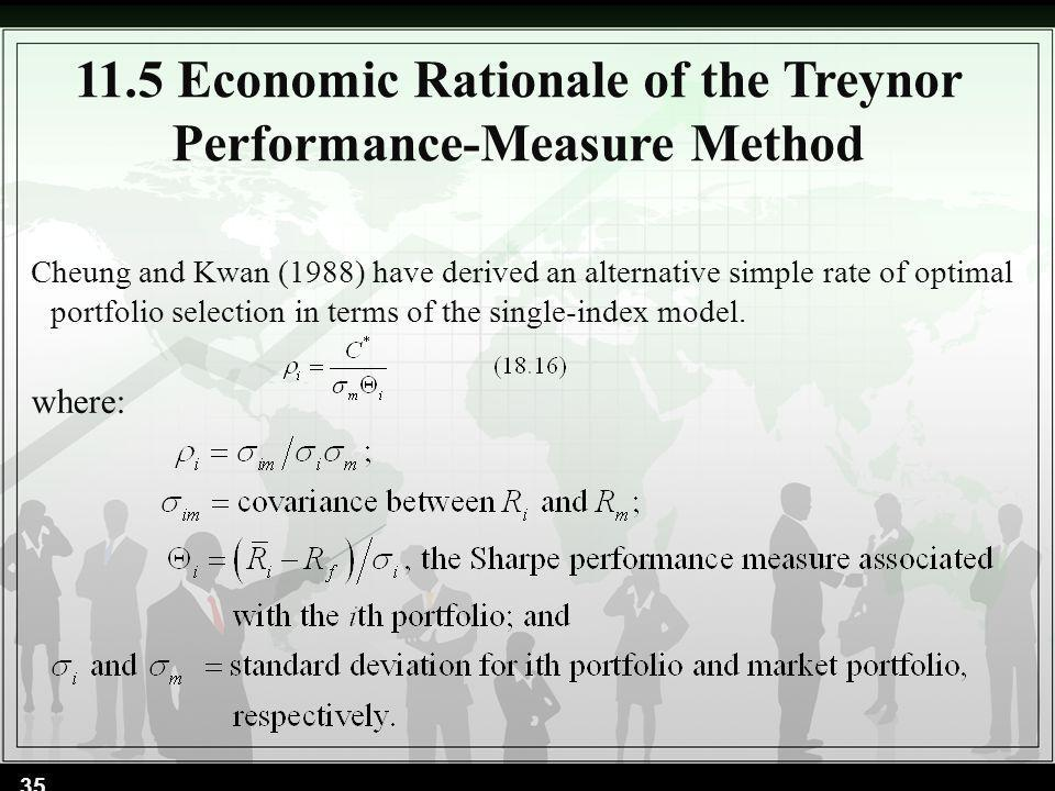 11.5 Economic Rationale of the Treynor Performance-Measure Method