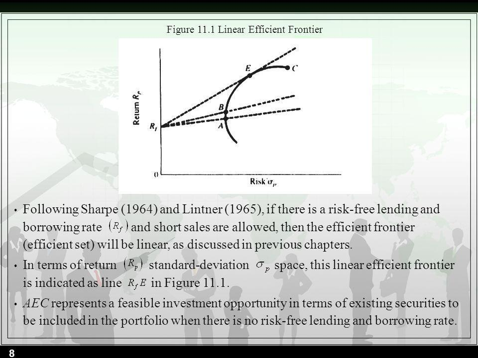 Figure 11.1 Linear Efficient Frontier