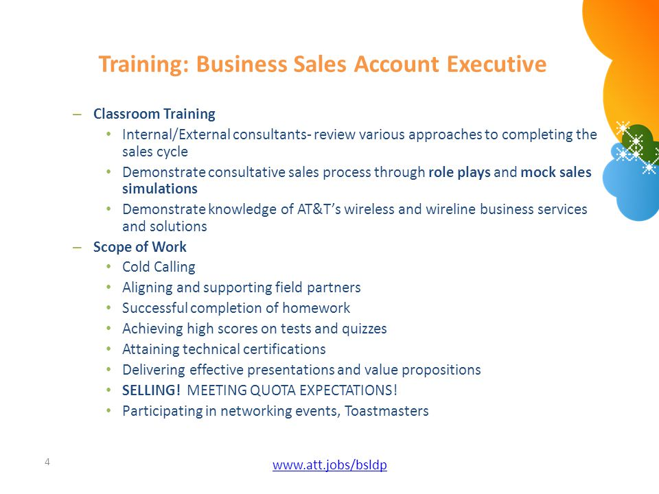 Training: Business Sales Account Executive