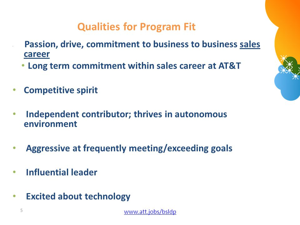 Qualities for Program Fit