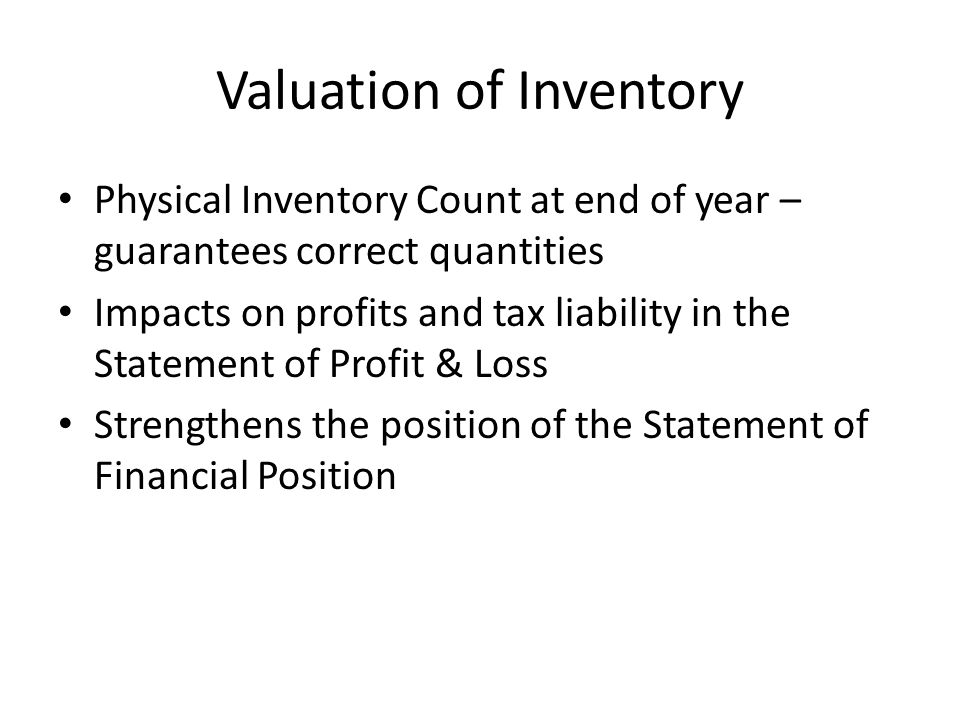 Valuation of Inventory