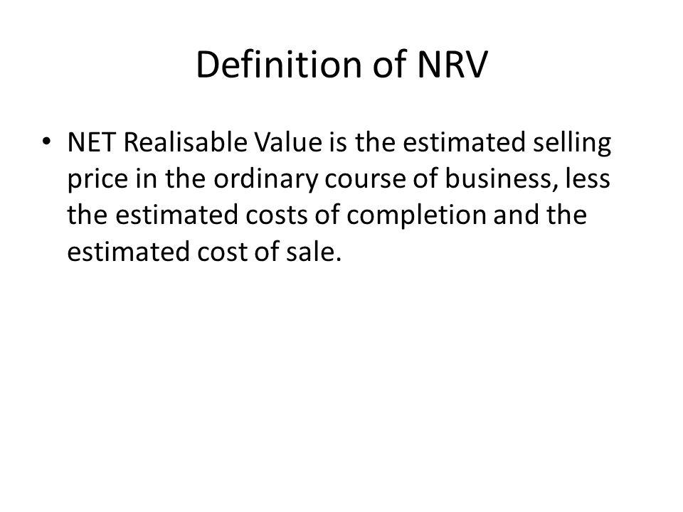 Definition of NRV