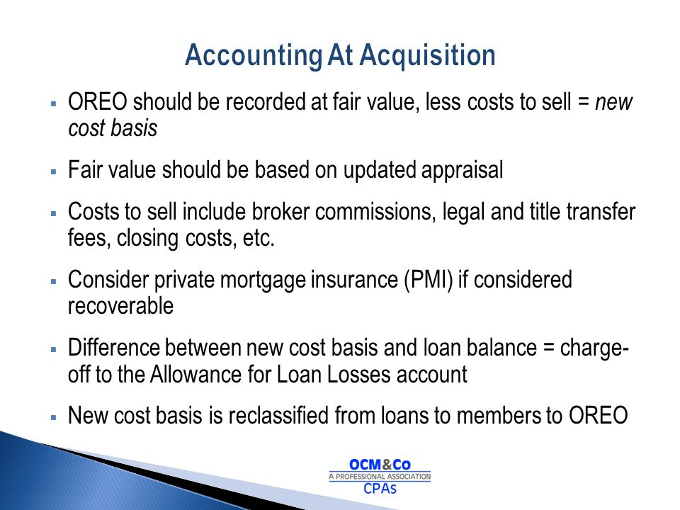 Accounting At Acquisition