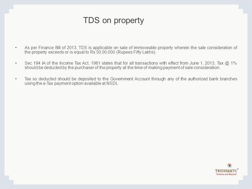 TDS on property