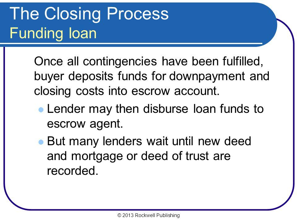 The Closing Process Funding loan